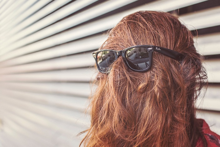 hair with sunglasses